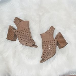 JellyPop Shoes | Cut Out Tan Heels